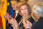 Queen Sofia during the Poetry Awards Gala at Royal Palace in Madrid. November 22 2019. (Alterphotos/Francis Gonzalez)