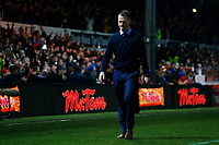 Newport County manager Michael Flynn leaves the pitch after the final whistle of the Fly Emirates FA Cup Fourth Round match between Newport County and Tottenham Hotspur at Rodney Parade, Newport, Wales, UK. Saturday 27 January 2018