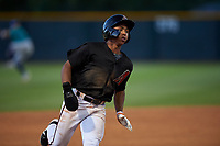 AZL D-backs Glenallen Hill Jr. (6) hustles toward third base during an Arizona League game against the AZL Mariners on July 3, 2019 at Salt River Fields at Talking Stick in Scottsdale, Arizona. The AZL D-backs defeated the AZL Mariners 3-1. (Zachary Lucy/Four Seam Images)