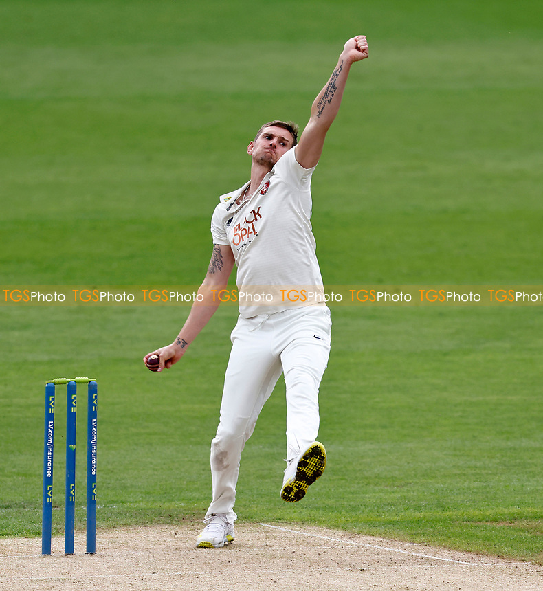Harry Podmore bowls for Kent during Kent CCC vs Sussex CCC, LV Insurance County Championship Group 3 Cricket at The Spitfire Ground on 11th July 2021