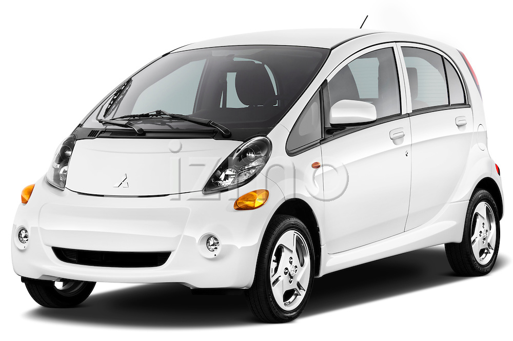 Front three quarter view of a 2012 Mitsubishi MiEV SE .