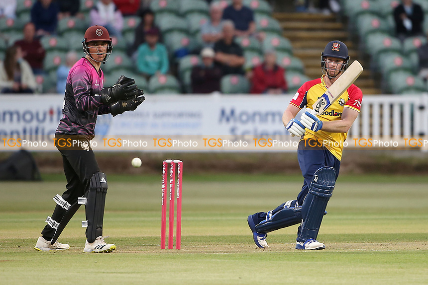 Jimmy Neesham in batting action for Essex during Somerset vs Essex Eagles, Vitality Blast T20 Cricket at The Cooper Associates County Ground on 9th June 2021