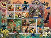 ,LANDSCAPES, LANDSCHAFTEN, PAISAJES, LornaFinchley, paintings+++++,USHCFIN0340AZ,#L#, EVERYDAY ,vintage,stamps,puzzle,puzzles