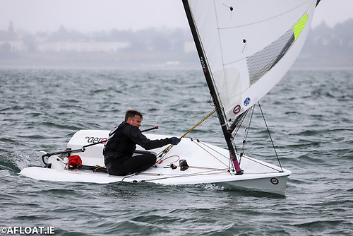 Fireball ace Noel Butler from the National Yacht Club is lying third in the RS Aero Easterns