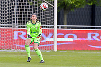 Goalkeeper Louise Van Den Bergh (1) of OHL pictured during a female soccer game between AA Gent Ladies and Oud Heverlee Leuven on the fourth matchday of play off 1 in the 2020 - 2021 season of Belgian Scooore Womens Super League , saturday 1 st of May 2021  in Oostakker , Belgium . PHOTO SPORTPIX.BE | SPP | STIJN AUDOOREN