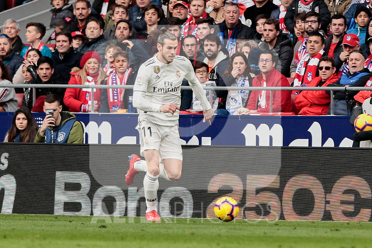 Real Madrid's Gareth Bale during La Liga match between Atletico de Madrid and Real Madrid at Wanda Metropolitano Stadium in Madrid, Spain. February 09, 2019. (ALTERPHOTOS/A. Perez Meca)