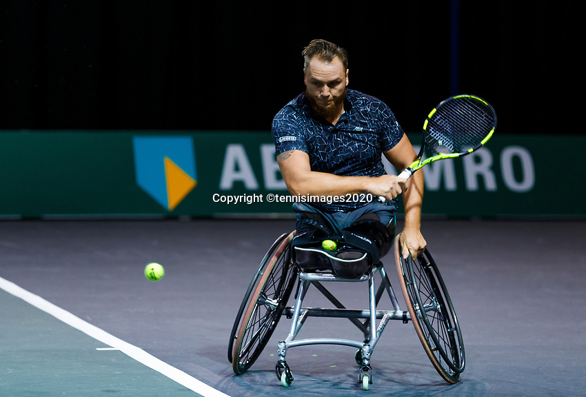 Rotterdam, The Netherlands, 12 Februari 2020, Wheelchair: Nicolas Peifer (FRA).<br /> Photo: www.tennisimages.com