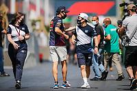 3rd June 2021; Baku, Azerbaijan;  TSUNODA Yuki (jap), Scuderia AlphaTauri Honda AT02, PEREZ Sergio (mex), Red Bull Racing Honda RB16B,  during the Formula 1 Azerbaijan Grand Prix 2021 at the Baku City Circuit, in Baku, Azerbaijan
