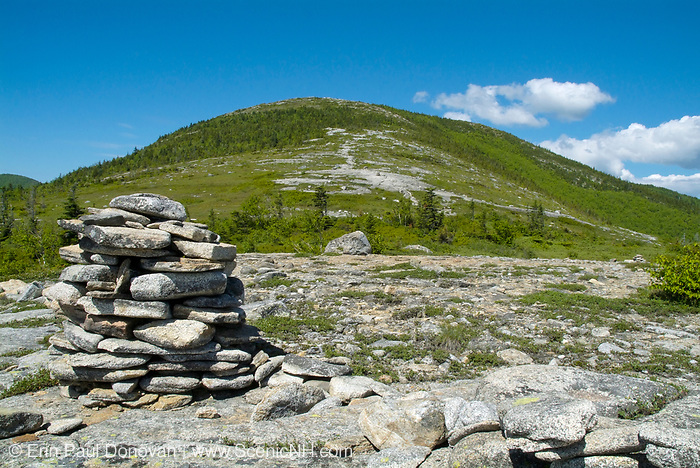 South Baldface Mountain from Baldface Knob Trail in the scenic landscape of the White Mountains, New Hampshire USA during the spring months. .