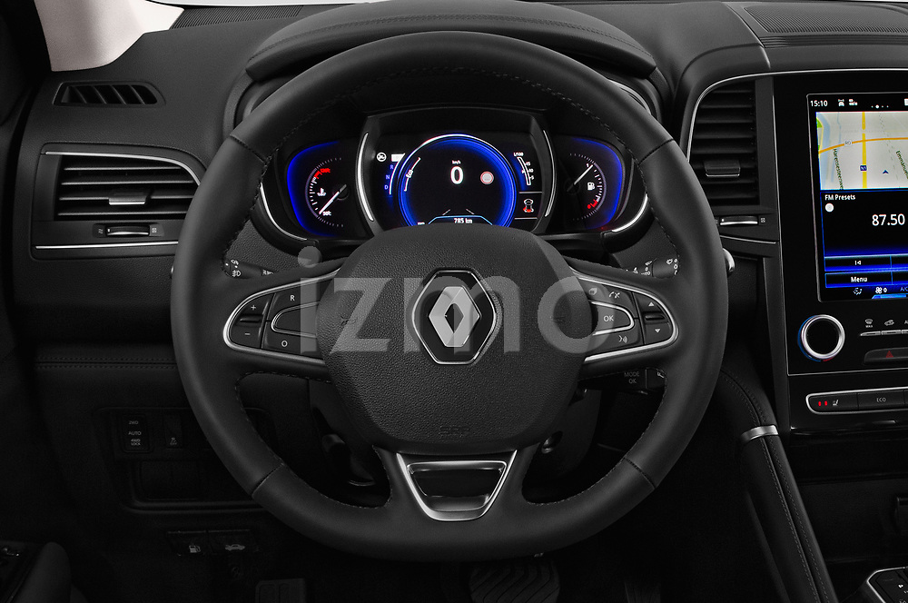 Car pictures of steering wheel view of a 2018 Renault Koleos Intens 4wd 5 Door SUV
