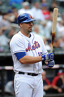 New York Mets infielder Valentino Pascucci #15 during a game against the Washington Nationals at Citi Field on September 15, 2011 in Queens, NY.  Nationals defeated Mets11-1.  Tomasso DeRosa/Four Seam Images