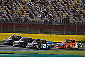 NASCAR Camping World Truck Series<br /> North Carolina Education Lottery 200<br /> Charlotte Motor Speedway, Concord, NC USA<br /> Friday 19 May 2017<br /> Parker Kligerman, Country USA / Lopez Wealth Management Toyota Tundra and Cody Coughlin, Ride TV/ Jegs Toyota Tundra<br /> World Copyright: Nigel Kinrade<br /> LAT Images<br /> ref: Digital Image 17CLT1nk05212