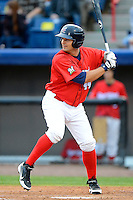 Brevard County Manatees infielder Cody Hawn #44 during a game against the Daytona Cubs at Spacecoast Stadium on April 5, 2013 in Viera, Florida.  Daytona defeated Brevard County 8-0.  (Mike Janes/Four Seam Images)