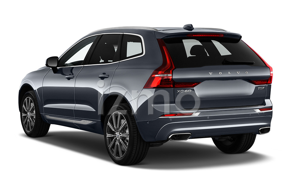Car pictures of rear three quarter view of 2020 Volvo XC60 Inscription-T8-eAWD-Plug-in-Hybrid 5 Door SUV Angular Rear