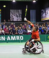 Rotterdam, The Netherlands, 14 Februari 2019, ABNAMRO World Tennis Tournament, Ahoy, Wheelchair final doubles, Stephane Houdet (FRA),<br /> Photo: www.tennisimages.com/Henk Koster