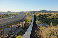"Palomar Pomerado Health, Escondido, CA, 2005-2012. Primary goal was to create a ""healing environment"" embracing two equally important components--a humane place of recuperation for patients and a model of sustainability in larger environmental context. Yu-Ju-Liu, landscape architect. Photo by DPR Construction."