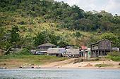 Xingu River, Para State, Brazil. Ilha da Fazenda settlement. Illegal goldming once.