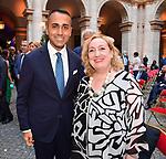 LUIGI DI MAIO ED EMANUELA DEL RE<br /> RICEVIMENTO 14 LUGLIO 2021 AMBASCIATA DI FRANCIA<br /> PALAZZO FARNESE ROMA