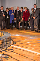 """Bundespraesident Frank-Walter Steinmeier hat am Mittwochabend (16.01.2019) die bundesweiten Feierlichkeiten zum Bauhaus-Jubilaeum 2019 eroeffnet. (Foto v.li.: Sachsen-Anhalts Ministerpraesident Reiner Haseloff (CDU) mit Ehefrau Gabriele; Bettina Wagner-Bergelt, Direktorin am Tanztheater Wuppertal; Steinmeier mit Ehefrau Elke Buedenbender; Kulturstaatsministerin Monika Gruetters (CDU); der thueringische Ministerpraesident Bodo Ramelow (Die Linke) mit Ehefrau Germana Alberti vom Hofe; Dr. Klaus Lederer, Berlins Kultursenator.<br /> Bei der Auftaktveranstaltung unter dem Motto """"100 jahre bauhaus"""" in der Akademie der Kuenste in Berlin, wuerdigte Steinmeier das Bauhaus als eine der """"bedeutendsten und weltweit wirkungsvollsten kulturellen Hervorbringungen unseres Landes"""". Die Feierlichkeiten zum Bauhaus-Jubilaeum 2019 stehen unter dem Titel """"Die Welt neu denken"""". Dazu sind in den kommenden Monaten rund 700 Veranstaltungen in elf Bundeslaendern geplant. Im Fokus stehen unter anderem die zentralen Wirkungsstaetten in Weimar, Dessau und Berlin.<br /> 16.1.2019, Berlin<br /> Copyright: Christian-Ditsch.de<br /> [Inhaltsveraendernde Manipulation des Fotos nur nach ausdruecklicher Genehmigung des Fotografen. Vereinbarungen ueber Abtretung von Persoenlichkeitsrechten/Model Release der abgebildeten Person/Personen liegen nicht vor. NO MODEL RELEASE! Nur fuer Redaktionelle Zwecke. Don't publish without copyright Christian-Ditsch.de, Veroeffentlichung nur mit Fotografennennung, sowie gegen Honorar, MwSt. und Beleg. Konto: I N G - D i B a, IBAN DE58500105175400192269, BIC INGDDEFFXXX, Kontakt: post@christian-ditsch.de<br /> Bei der Bearbeitung der Dateiinformationen darf die Urheberkennzeichnung in den EXIF- und  IPTC-Daten nicht entfernt werden, diese sind in digitalen Medien nach §95c UrhG rechtlich geschuetzt. Der Urhebervermerk wird gemaess §13 UrhG verlangt.]"""