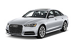 2017 Audi A6 Prestige 4 Door Sedan angular front stock photos of front three quarter view