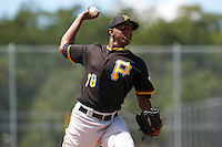 Pittsburgh Pirates pitcher Yeudry Manzanillo (78) during an Instructional League Intrasquad Black & Gold game on September 21, 2016 at Pirate City in Bradenton, Florida.  (Mike Janes/Four Seam Images)
