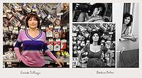 IL VERO E IL FALSO:.Ritratti di veri soci Coop e degli attori che interpretano la sit-Com Casa Coop.Beatrice Palme