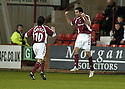 02/01/2007       Copyright Pic: James Stewart.File Name : sct_jspa04_dunfermline_v_hearts.MICHAL POSPISIL CELEBRATES SCORING HEARTS FIRST....James Stewart Photo Agency 19 Carronlea Drive, Falkirk. FK2 8DN      Vat Reg No. 607 6932 25.Office     : +44 (0)1324 570906     .Mobile   : +44 (0)7721 416997.Fax         : +44 (0)1324 570906.E-mail  :  jim@jspa.co.uk.If you require further information then contact Jim Stewart on any of the numbers above.........