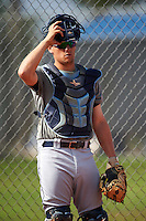 Tampa Bay Rays Chris Betts (26) during practice before a minor league Spring Training intrasquad game on April 1, 2016 at Charlotte Sports Park in Port Charlotte, Florida.  (Mike Janes/Four Seam Images)