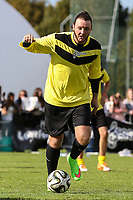 London, UK on Sunday 31st August, 2014. James Arthur in action during the Soccer Six charity celebrity football tournament at Mile End Stadium, London.