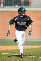 Derek Gallello (41) of the Charlotte 49ers starts down the first base line against the Canisius Golden Griffins at Hayes Stadium on February 23, 2014 in Charlotte, North Carolina.  The Golden Griffins defeated the 49ers 10-1.  (Brian Westerholt/Four Seam Images)