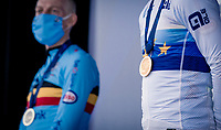 Eli Iserbyt (BEL/Pauwels Sauzen-Bingoal) being crowned the new European Champion<br /> <br /> UEC Cyclocross European Championships 2020 - 's-Hertogenbosch (NED)<br /> <br /> Elite MEN<br /> <br /> ©kramon