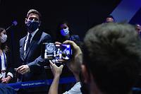 Conference de presse de Lionel Messi au Parc des Princes<br /> 11/08/2021<br /> Lionel Messi al Paris Saint Germain PSG <br /> Calcio Ligue 1 2021/2022<br /> Photo Federico Pestellini/Panoramic/insidefoto <br /> ITALY ONLY