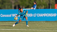 Bradenton, FL - Sunday, June 12, 2018: Jaidy Guiterrez during a U-17 Women's Championship Finals match between USA and Mexico at IMG Academy.  USA defeated Mexico 3-2 to win the championship.