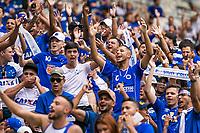 BELO HORIZONTE, MG, 14.04.2019:CRUZEIRO-ATLETICO - Torcida durante partida entre Cruzeiro e Atletico, válida pelo jogo de ida das finais do campeonato mineiro 2019,  no Estadio Mineirão em Belo Horizonte, MG, na tarde deste domingo (14) (foto Giazi Cavalcante/Codigo19)