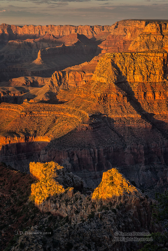 Canyon Shadows, Grandview Point, South Rim