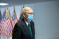 United States Senate Majority Leader Mitch McConnell (Republican of Kentucky) arrives to GOP Policy Luncheons at the United States Capitol in Washington D.C., U.S., on Wednesday, June 24, 2020.  Credit: Stefani Reynolds / CNP/AdMedia