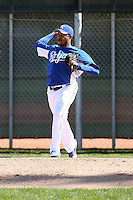Jeremy Jeffress #41 of the Kansas City Royals participates in spring training workouts at the Royals complex on February 21, 2011  in Surprise, Arizona. .Photo by:  Bill Mitchell/Four Seam Images.