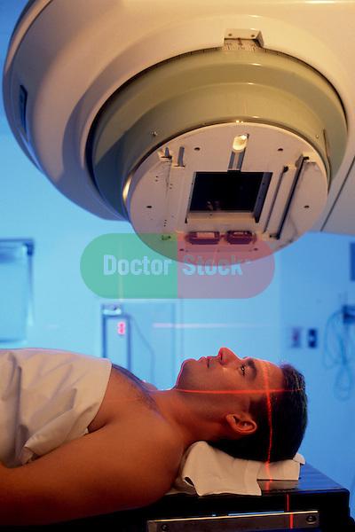 Man receiving radiation treatment