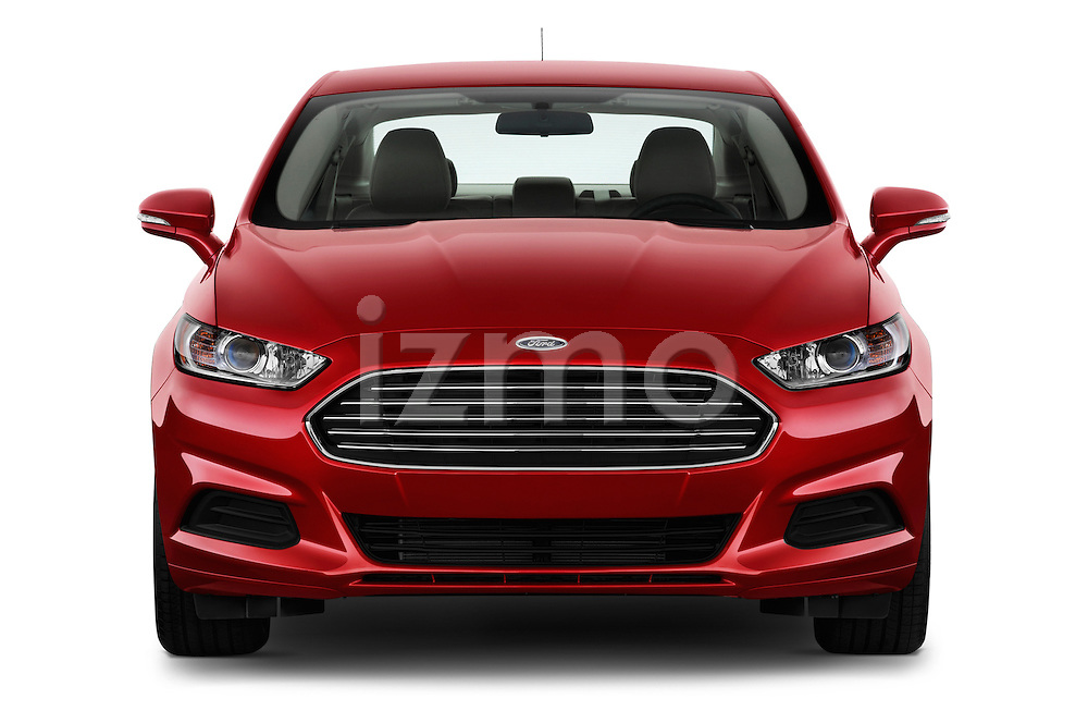 Straight front view of a 2013 Ford Fusion SE