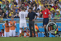 Miroslav Klose is substituted off by Germany manager Joachim Low