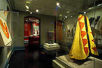 A display of a royal capes in Iolani Palace, which is a 4-story Italian Renaissance palace that was built in 1882 and is in downtown Honolulu