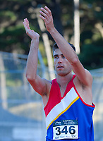 Men's high jump champion Hamish Kerr. 2021 Capital Classic athletics at Newtown Park in Wellington, New Zealand on Saturday, 20 February 2021. Photo: Dave Lintott / lintottphoto.co.nz