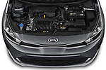 Car Stock 2021 KIA Rio S 4 Door Sedan Engine  high angle detail view