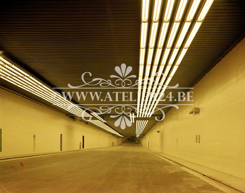 Juni 1969. Kennedytunnel in Antwerpen.