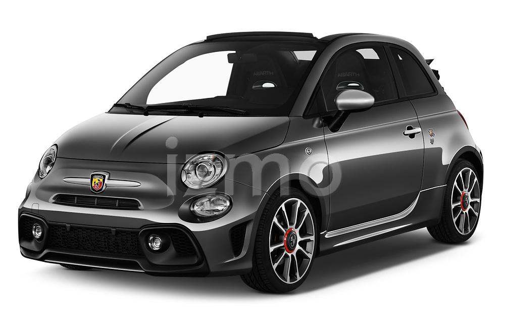 2018 Abarth 595 Turismo Base 2 Door Convertible angular front stock photos of front three quarter view