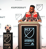 Philadelphia, PA - Thursday January 19, 2018:  during the 2018 MLS SuperDraft at the Pennsylvania Convention Center.