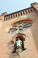 La facciata del Duomo di Alba.<br /> The facade of the Cathedral of Alba, Piedmont.<br /> UPDATE IMAGES PRESS/Riccardo De Luca