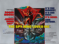 BNPS.co.uk (01202 558833)<br /> Pic: Lyon&Turnbull/BNPS<br /> <br /> Pictured: 'The Spy Who Loved Me' with an estimate of £1,000-£1,500.<br /> <br /> A collection of original James Bond posters featuring Roger Moore and Sean Connery could sell for a whopping £26,400.<br /> <br /> The set of 15 vintage posters include rare signed copies by Moore and highly desirable ones advertising Connery's earliest films.<br /> <br /> They depict classic icons spanning over 20 years of 007 history such as the 'gold lady' from Goldfinger, 1964, tipped to sell for £8000.
