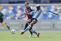 Victor Osimhen of SSC Napoli scores the goal of 1-0  during the Serie A football match between SSC Napoli and Cagliari Calcio at Diego Armando Maradona stadium in Napoli (Italy), May 02nd, 2021. <br /> Photo Cesare Purini / Insidefoto