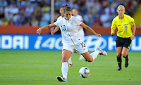 Carli Lloyd of team USA during the FIFA Women's World Cup at the FIFA Stadium in Dresden, Germany on June 28th, 2011.